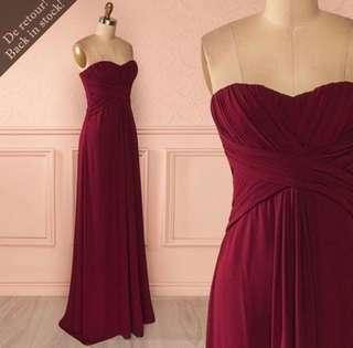 Maroon Dress 1861