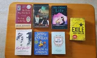 Assorted good condition books for sale