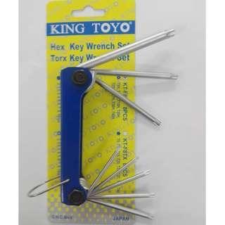 Kingtoyo Folding Torx Key Wrench Set
