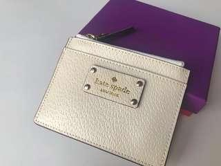 Kate Spade Leather Credit Card/ Coin Holder