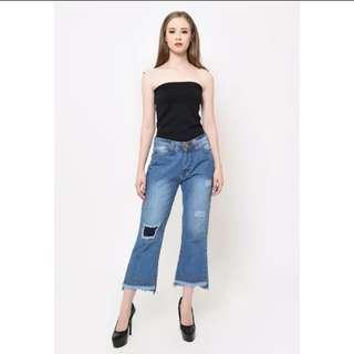 Pluffy's Choice Jewel Denim Jeans Vintage Cutbray