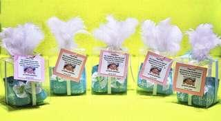 Blue Baby Boots Baptismal Give Aways