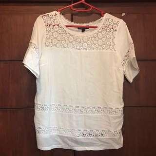 Topshop lace blouse