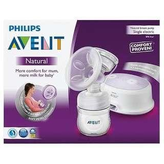 Avent single breast pump preloved very good condition