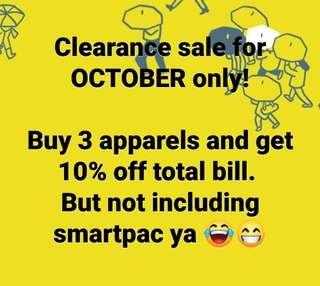 October Sale! Ladies apparels