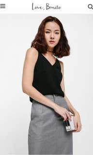 BNWT size S LB Calgaha v-necked camisole black