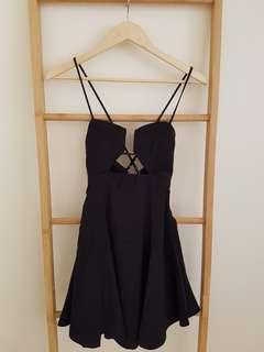 Mooloola black skater dress