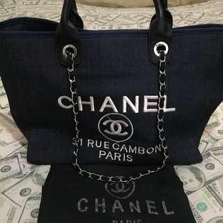 CHANEL 2WAY DENIM TOTE BAG