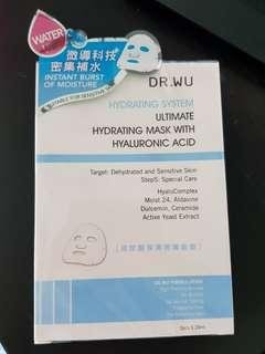 BNIB Dr Wu ultimate hydrating mask with hyaluronic acid (3pcs)