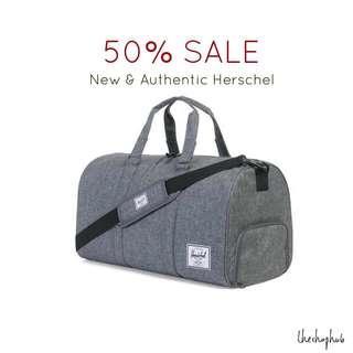 3edf04ff10  CHEAPEST  Authentic Herschel Novel Duffle Bag- Grey