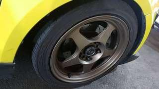 "Bronze 16"" ROTA Slipstream rims + tyres"