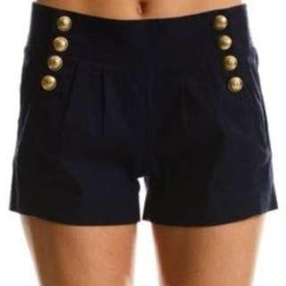 NEW WITH TAGS Armani Exchange High Waist Navy Short 0P