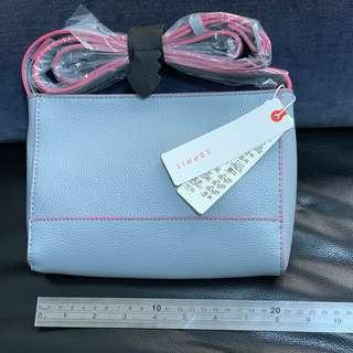 Blue Small Faux Leather Shoulder Bag by Esprit (Authentic)