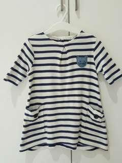 Preloved Next baby girl tunic top (can wear as dress as well)