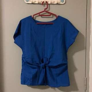BN Royal Blue Knotted Top