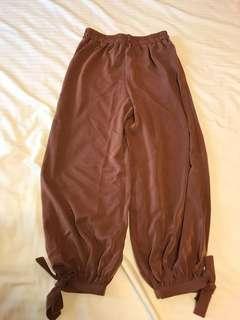 🚚 藕色燈籠褲