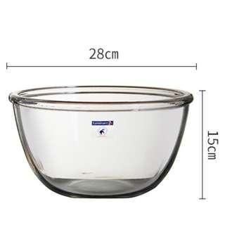 Tempered glass mixing bowl salad bowl fruit bowl