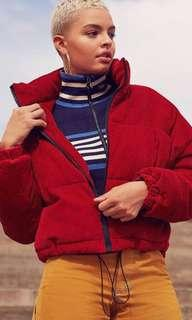 UO Red Corduroy Jacket (Urban Outfitters)