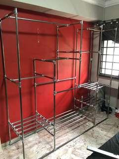 Stainless steel piping designed furnitures