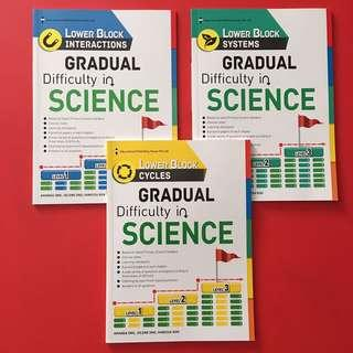 BN Lower Block gradual Difficulty in science 3 books (interactions, systems & cycles) EPH