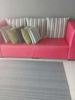 3 seater RED chili sofa(markdown price)