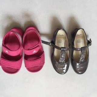 Clarks UK6 Free Adidas Sandal in Pink UK6