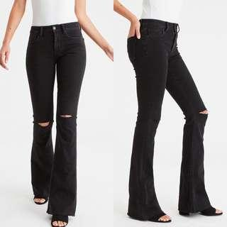 🚚 BN AMERICAN EAGLE HIGH WAISTED BELL BOTTOM JEANS