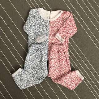 Cuit baby wear setelan baju panjang/piyama