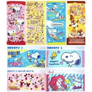 Ariel / Snoopy / chip n dale / mickey mouse Towel
