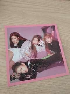 Blackpink square up pink ver postcard