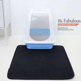🚚 L size WaterProof Double EVA Cat Litter Trapping Mat Double Layer Honeycomb Cat