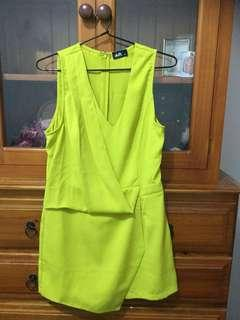 Neon Yellow Playsuit