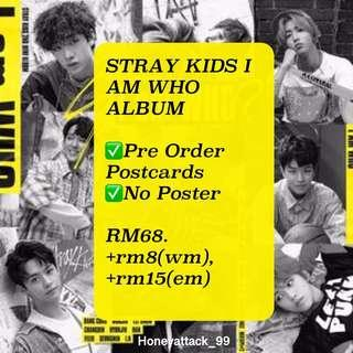 ORDER STRAY KIDS I AM WHO ALBUM WITH POSTCARDS