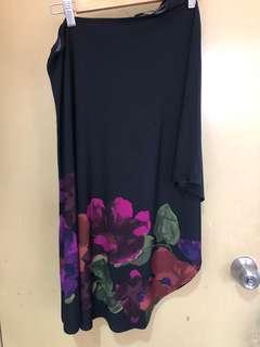 Miss shelfridge toga petite flower black dress