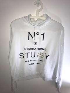 White Stussy Sweatshirt