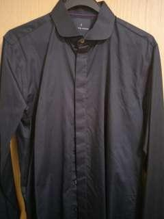 Benjamin Barker long sleeve black working shirt for men