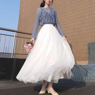 White Tulle Skirt (NEW)