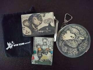 wun ying collection card case and coins bag
