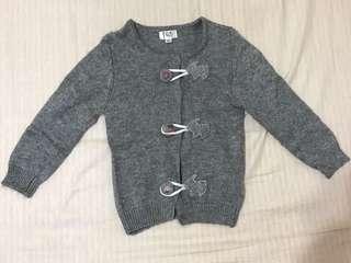 🚚 KingKow 灰色針織毛料外套 90cm