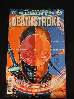 Dc universe Rebirth Deathstorke set #1-3