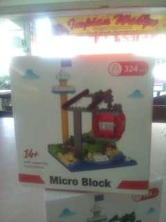 micro brick toy 324 pieces