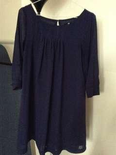 H&M blue dress-Size XS
