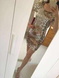 Sexy party one piece dress size S 性感亮片夜店連身裙