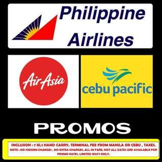 10/30 AIRLINE PROMOS - BOOK YOUR TICKETS!