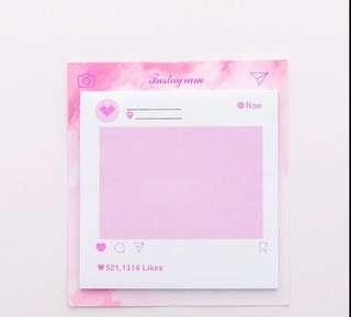 Pastel Pink Stationery Sticky Planner Notes Notepad