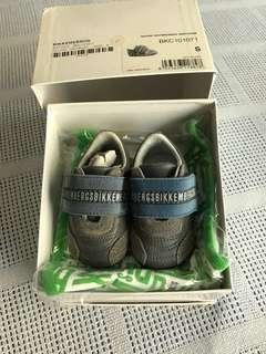 BIKKEMBERGES Baby Shoes - Leather/Suede- Grey/Blue