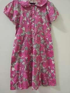 Dress Wanita Batik bunga renda