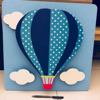 3D Wooden Wall Art - Hot Air Ballon