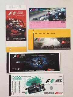 Malaysia F1 used tickets - Sepang