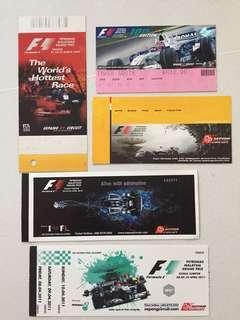 Malaysia F1 used tickets - Sepang
